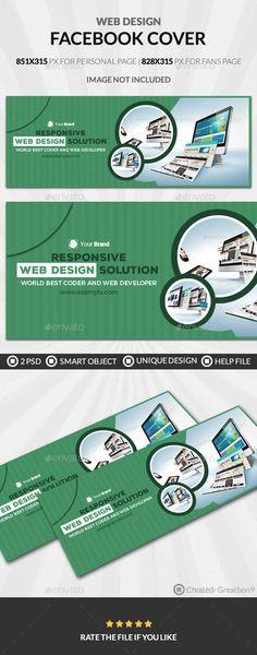 Web Design Facebook Cover - Facebook #Timeline #Covers #Social Media Download here: https://graphicriver.net/item/web-design-facebook-cover/19720718?ref=alena994
