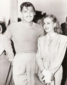 Clark Gable and Carole Lombard, C.1930's ~ how fabulous is this!!