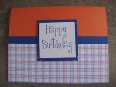 tbear creations - love blue and orange plaid