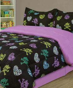 Take a look at this Purple Zebra Party Comforter Set by Beatrice Home on #zulily today!