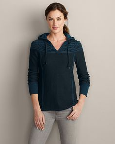 Mt. Shasta Cable Sweater | Eddie Bauer - come for the cool name, stick around for the design