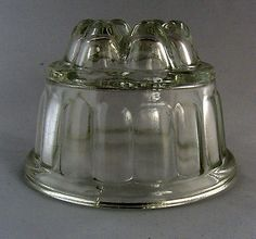 Vintage Small Glass Jelly Mould