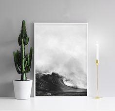 Poster mit Meeresfotografie, Welle | Plakat mit Fotokunst | Poster