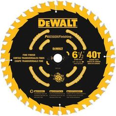 DeWalt DW9196 6-1/2-Inch 40 Tooth Precision Framing Saw Blade