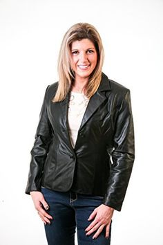 Product review for Leather Jacket Lambskin Blazer Color Black Button up by Lee Cobb.  - A soft New Zealand Lambskin leather blazer, Single-breasted with side pockets and fully lined. The size measurements are the approximate size of the Actual Jacket itself. We measure across the front of the jacket and then across the back of the jacket (arm pit to arm pit) and add the total...