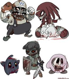 Josh Mirman: Famous video game characters zombiefied