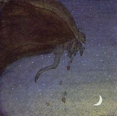 "Magicians Fruits - by John Bauer: ""He plucked the most luscious fruits and flew back to Alvida's window"""