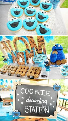 Cookie Monster Themed Birthday Party Parties Elmo 2nd