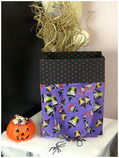 TrickorTreat Bag  Owl withches by JanaCreations on Etsy, $15.00