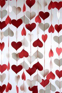 Guirnalda de corazones #SanValentin #DIY