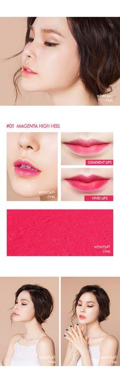 jungsun basics lipstick #01 magenta heels
