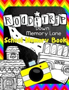 End of School Memory Book for UPPER ELEMENTARY {Road Trip