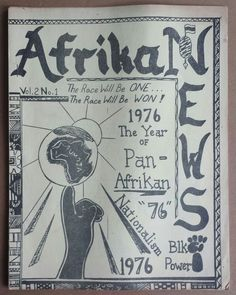 """radicalarchive:  'AfrikaNews', Afrikan News Center, United States, 1976.  """