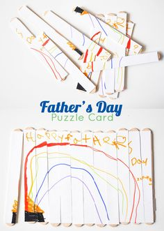 Tutorial:  Fathers Day Puzzle Card - this is such a cute and simple idea!