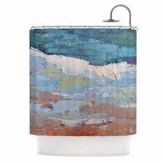 On the Beach by Carol Schiff Shower Curtain