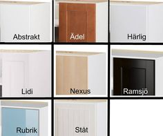 Ikea Kitchen Cabinets Deciphered. Good comparison between door styles and  materials used, price differences