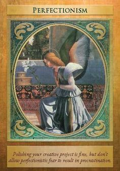 Oracle Card Perfectionism | Doreen Virtue | official Angel Therapy Web site