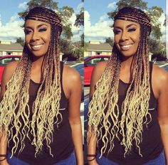 43 Cool Blonde Box Braids Hairstyles to Try - Hairstyles Trends Ghana Braids Hairstyles, French Braid Hairstyles, Braided Hairstyles For Black Women, Afro Braids, Protective Hairstyles, Blonde Box Braids, Braids For Long Hair, Ombre Box Braids, Dreads