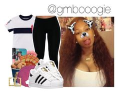 """$$"" by gmboogie ❤ liked on Polyvore featuring adidas"