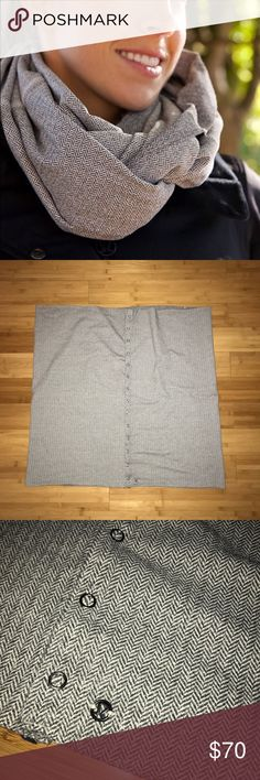Lululemon Vinyasa Scarf in Ghost Herringbone EUC In EUC! Rare and hard to find ghost Herringbone pattern! No stains no tears, worn a few times but still in good used condition. NO TRADES, cheaper thru ️️ lululemon athletica Accessories Scarves & Wraps