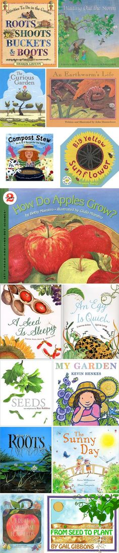 Gardening books for kids - know most of these, some new ones to check out (not sure why egg is quiet is on the list? Kids Reading, Teaching Reading, Reading Lists, Preschool Books, Preschool Garden, Preschool Plans, Garden Kids, Preschool Curriculum, Preschool Science