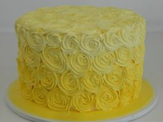 Yellow ombre cake