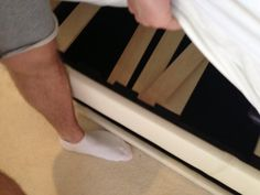 Niall broke his bed last night by jumping on it when he got home. And he had to sleep on the couch!