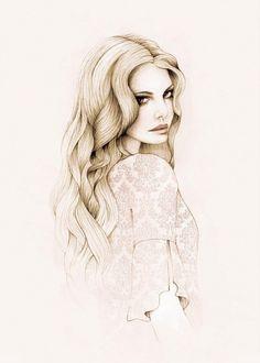 Image via We Heart It https://weheartit.com/entry/109542189 #art #beautiful #blonde #drawings #fashion #girl #illustration #portrait #sketch #model #مساءالخير