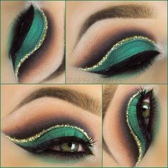 Sexy green eye-makeup!
