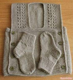 Dikişsiz Bebek Yeleği Yapılışı 9
