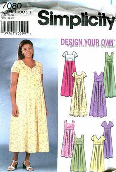 Empire Waist Maternity Dress Pattern Vogue by treazureddesignz ...