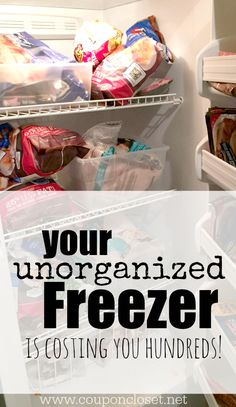 The Lesson My Unorganized Freezer Taught Me - Read how I organized my freezer to help my family save even more money. You might surprised how much money you are throwing away with an unorganized freezer.