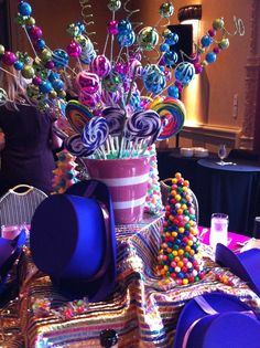 Wonka Theme Table At Baykids Studio Luncheon