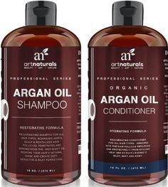 Art Naturals Organic Moroccan Argan Oil Shampoo and Conditioner Set (2 x 16 Oz) - Sulfate Free - Volumizing & Moisturizing, Gentle on Curly & Color Treated Hair, For Men & Women - Infused with Keratin, 2016 Amazon Top Rated Hair Care  #Beauty