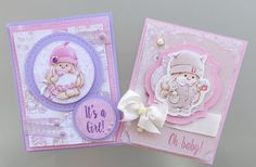 Lovely My Little Star baby girl cards by Irit Shalom #cardmaking #scrapberrys #scrapbook #baby