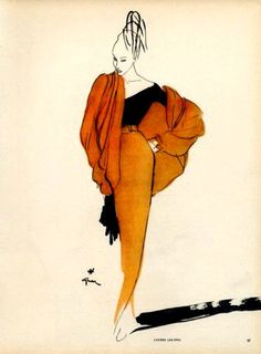 Lucien Lelong P/E Illustration de René Gruau. Christian Dior, Fashion Prints, Fashion Art, Vintage Fashion, Trendy Fashion, Fashion Women, Fashion Design, Jacques Fath, Fashion Illustration Vintage