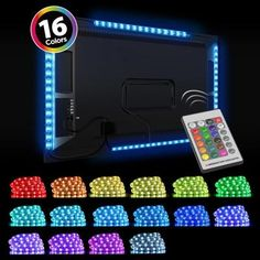 Provide a rich and exclusive addition to your home by selecting this affordable Monster Mounts Home Theater TV LED Backlight Kit. Diy Movie Theater Room, Home Theater Room Design, At Home Movie Theater, Cinema Room, Home Movie Theaters, Tv Lighting, Home Theater Lighting, Gaming Room Setup, Computer Gaming Room