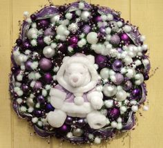 Christmas Disney Wreath Winnie the Pooh by SparkleForYourCastle, $249.00