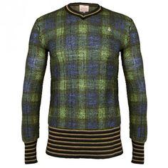 Vivienne Westwood Man Gold Label Mcneish V-Neck Sweater - Green | Sold At GarmentQuarter