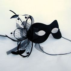 Items similar to Masquerade Mask - The Black Birdcage Veil Masked Ball Party Prom Mask and Couples Masks on Etsy Venetian Masquerade, Venetian Masks, Masquerade Party, Masquerade Masks, Masquerade Attire, Sweet 16 Masquerade, Black Birdcage Veils, Lace Mask, Beautiful Mask