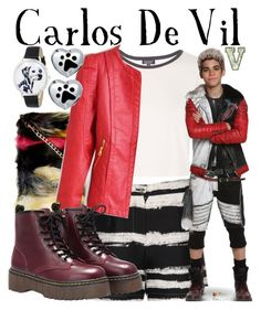 """""""Carlos De Vil (Disney's Descendants)"""" by fabfandoms ❤ liked on Polyvore featuring Topshop, Lavish Alice, Whimsical Watches, Disney and Bling Jewelry"""