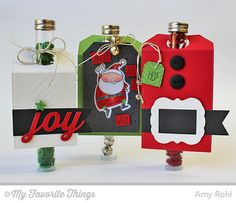 Fine Chevron Backgorund, Jingle all the Way stamp set and Die-namics, Snowfall Background, Christmas Label and Tag Die-namics, Fishtail Flags STAX Die-namics, Peace Love Joy Die-namics, Stitched Circle STAX Die-namics, Stitched Traditional Tag STAX Die-namics, Herringbone Bricks Stencil - Amy Rohl #mftstamps