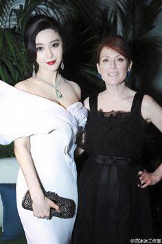 Fan Bingbing & Julianne Moore at the Trophy Chopard Banquet in Cannes 2015