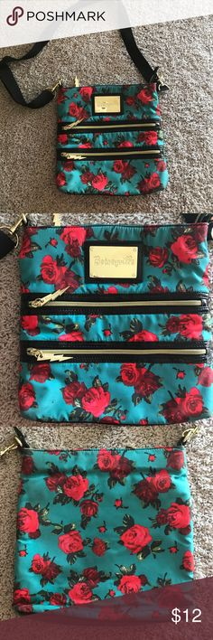 Betsey Johnson Handbag All zippers work and inside is very clean - used often with love Betsey Johnson Bags Shoulder Bags