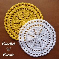 A crochet quick doily for you to make in just an hour or so, made with a combination of dc and sc with a pretty edge to finish. Make them for your .......