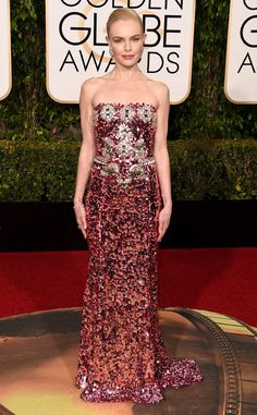 Kate Bosworth from 2016 Golden Globes Red Carpet Arrivals  In Dolce & Gabbana