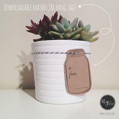 free printable mason jar hang tags