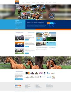 Web Design by H Create! Thoroughbred Breeders Victoria (TBV). Sleek, bright and modern - responsive website design with various content types.