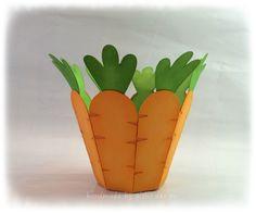 Osterkörbchen 'Karotte' von gislis-design auf DaWanda.com
