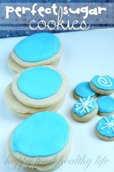 Perfect Sugar Cookies - Super soft and melt in your mouth delicious. And they stay soft for days!
